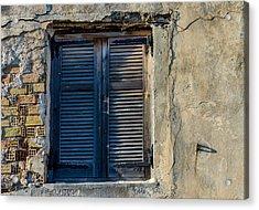 Zakynthos Town Window Acrylic Print