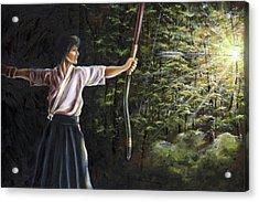 Acrylic Print featuring the painting Zanshin by Hiroko Sakai