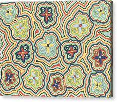 Acrylic Print featuring the drawing Zany Garden by Jill Lenzmeier