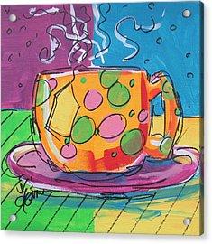 Zany Teacup Acrylic Print