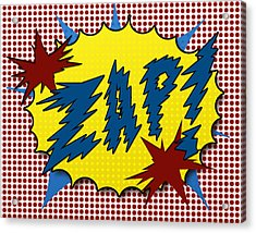 Zap Pop Art Acrylic Print by Suzanne Barber