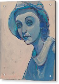 Zasu In Blue Acrylic Print