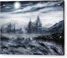 Zealous Waters Acrylic Print by Ann Marie Bone