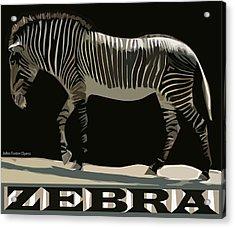 Zebra Design By John Foster Dyess Acrylic Print