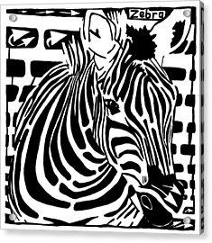 Zebra Maze Acrylic Print by Yonatan Frimer Maze Artist