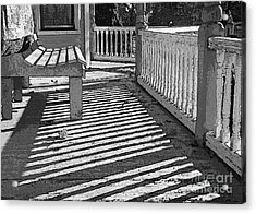 Acrylic Print featuring the photograph Zebra Porch by Betsy Zimmerli