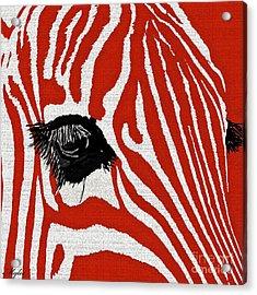 Zebra Red Acrylic Print