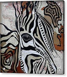Zebroid Acrylic Print