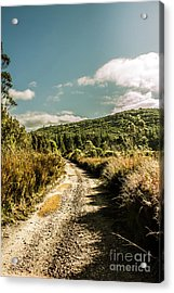 Zeehan Dirt Road Landscape Acrylic Print by Jorgo Photography - Wall Art Gallery