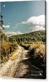 Zeehan Dirt Road Landscape Acrylic Print