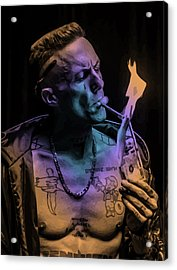 Zef Cash Money Acrylic Print by Jera Sky