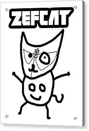 Zef Cat Acrylic Print by Jera Sky