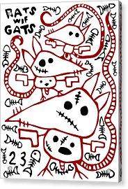 Zef Rats Wif Gats Acrylic Print by Jera Sky