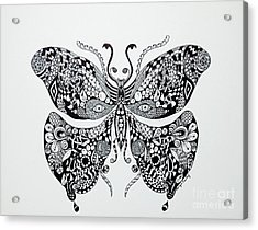 Zen Butterfly Acrylic Print by Tamyra Crossley