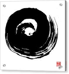 Zen Circle Wave Acrylic Print by Peter Cutler