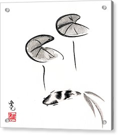 Zen Fish Painting Acrylic Print by Oiyee At Oystudio