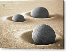 Acrylic Print featuring the photograph Zen Garden Meditation Stones by Dirk Ercken