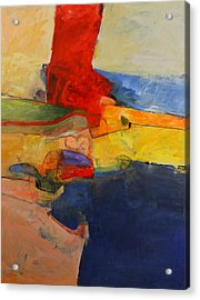 Acrylic Print featuring the painting Zen Harbor by Cliff Spohn