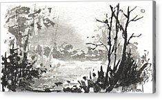 Zen Ink Landscape 3 Acrylic Print by Sean Seal