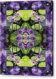 Zen Lilies Acrylic Print