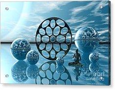 Acrylic Print featuring the digital art Zen Moment by Sandra Bauser Digital Art
