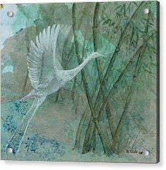 Zen Morning Acrylic Print by Sandy Clift