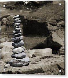 Zen Power Tower Acrylic Print by Betsy Knapp
