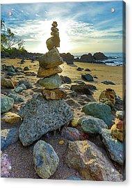 Zen Rock Balance Acrylic Print