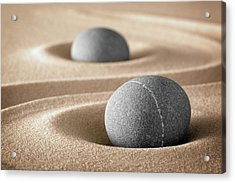 Acrylic Print featuring the photograph Zen Stone Garden by Dirk Ercken