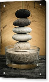 Zen Stones I Acrylic Print by Marco Oliveira