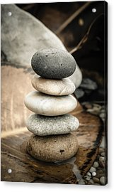 Zen Stones Iv Acrylic Print by Marco Oliveira