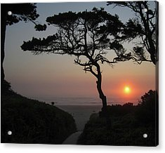 Zen Sunset Acrylic Print by HW Kateley