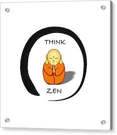 Zen Symbol With Buddha Acrylic Print
