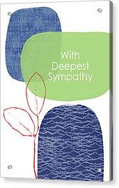 Zen Sympathy Card- Art By Linda Woods Acrylic Print