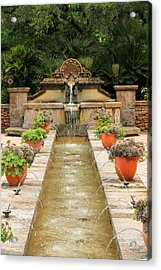 Zen Water Feature Waterfall Acrylic Print