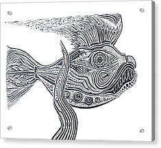 Zentangle Fish Acrylic Print