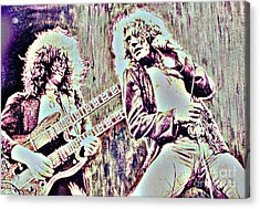 Zeppelin Concert On Wood  Acrylic Print