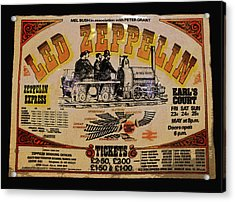 Zeppelin Express Acrylic Print by David Lee Thompson