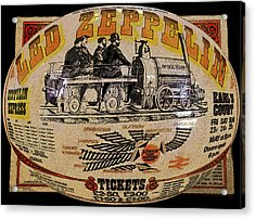 Zeppelin Express Work B Acrylic Print by David Lee Thompson