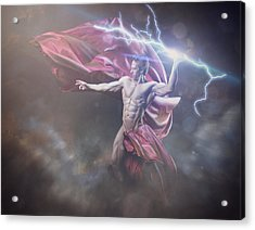 Zeus Conservative Version Acrylic Print by Marcin and Dawid Witukiewicz