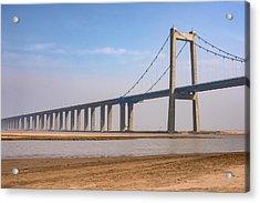 Zhengzhou Taohuayu Huanghe Bridge  Acrylic Print