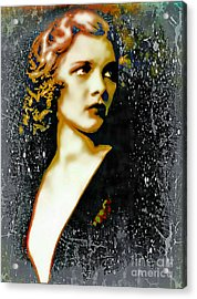 Ziegfeld Follies Girl - Drucilla Strain  Acrylic Print
