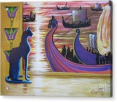 Zig Of Blaa Kattproduksjoner   Inspects The Ships Acrylic Print