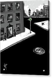 Zig Zag City Acrylic Print by Russell Pierce
