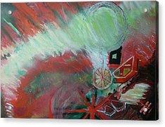 Zig-zag Explosion Acrylic Print by Anne-Elizabeth Whiteway