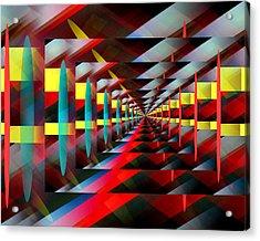 Zig Zag Acrylic Print