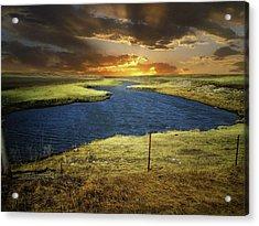 Zig Zag River Acrylic Print