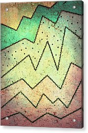 Zig Zag Two Abstract Art Acrylic Print