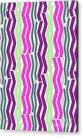 Zig Zig Stripes Acrylic Print