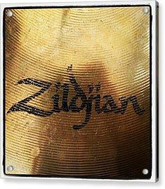 #zildjian #drums #drummer #cymbal Acrylic Print by Bradley Whitehead